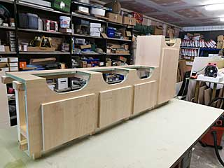 Wooden vanity units